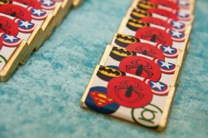 Vintage Superhero themed birthday party with Lots of Awesome Ideas via Kara's Party Ideas KarasPartyIdeas.com #superheroparty #vintagesuperhero #boybirthdayparty #partyideas #partydecor (12)