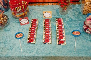 Vintage Superhero themed birthday party with Lots of Awesome Ideas via Kara's Party Ideas KarasPartyIdeas.com #superheroparty #vintagesuperhero #boybirthdayparty #partyideas #partydecor (11)