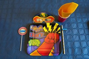 Vintage Superhero themed birthday party with Lots of Awesome Ideas via Kara's Party Ideas KarasPartyIdeas.com #superheroparty #vintagesuperhero #boybirthdayparty #partyideas #partydecor (7)