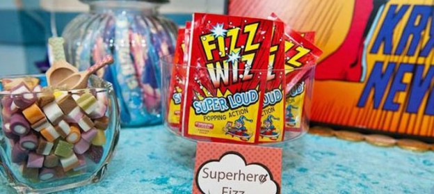 Vintage Superhero themed birthday party with Lots of Awesome Ideas via Kara's Party Ideas KarasPartyIdeas.com #superheroparty #vintagesuperhero #boybirthdayparty #partyideas #partydecor (1)