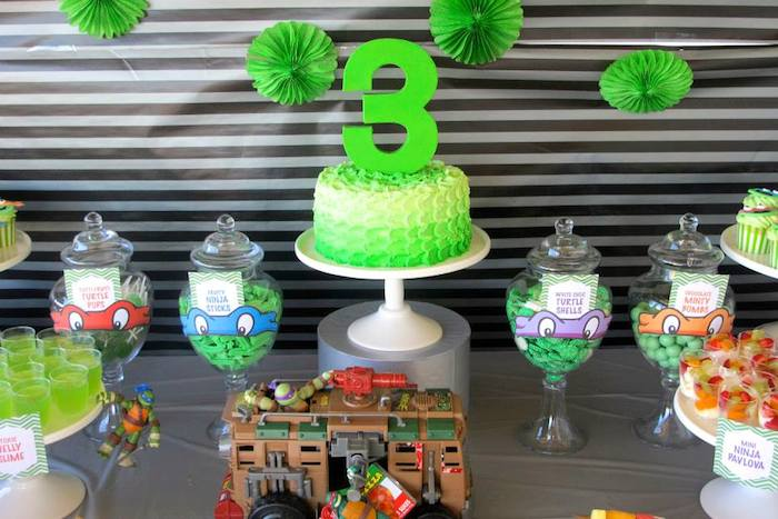 Kara 39 s party ideas teenage mutant ninja turtles themed for Tmnt decorations