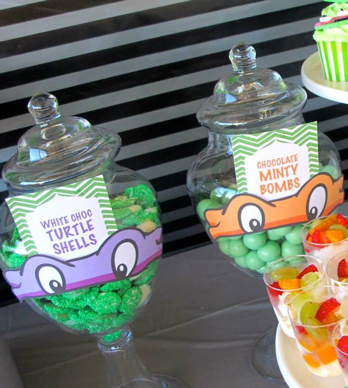 Teenage Mutant Ninja Turtles Themed Birthday Party With So Many Great Ideas Via Karas