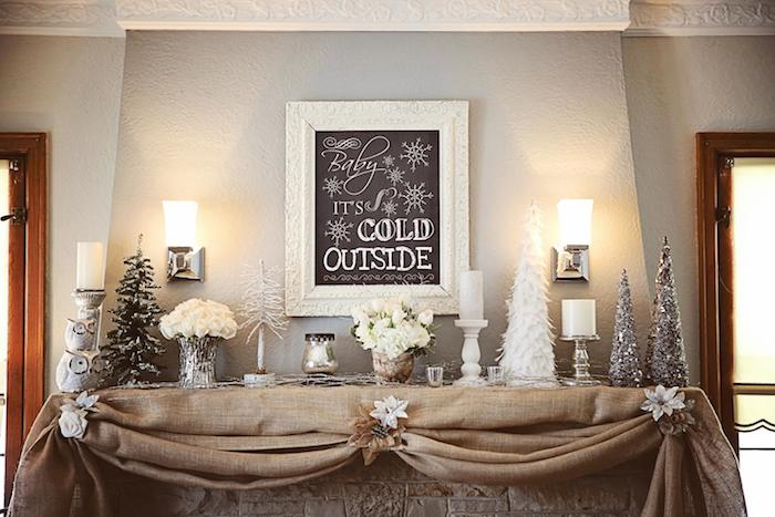 Baby Its Cold Outside Themed Winter Wonderland Twin Birthday Party With Lots Of Really Cute Ideas
