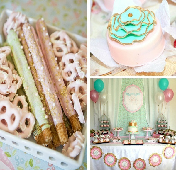 Kara's Party Ideas Shabby Chic Girl Boy Baby Wedding Christening