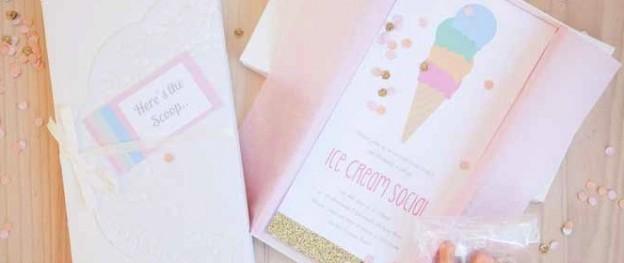 Pastel Ice Cream Social Birthday via Kara's Party Ideas KarasPartyIdeas.com #icecream #icecreamparty