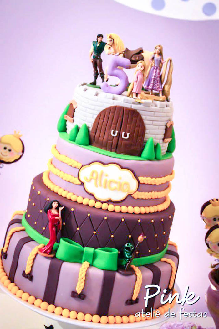 Karas Party Ideas Tangled Rapunzel themed birthday party with So
