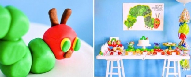 The very hungry caterpillar themed birthday party via Kara's Party Ideas KarasPartyIdeas.com Book