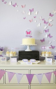 Butterfly themed birthday party with Lots of Cute Ideas via Kara's Party Ideas | Cake, decor, cupcakes, games and more! KarasPartyIdeas.com #butterflyparty #partyideas #partydecor #partyplanning #partystyling #eventstyling (18)
