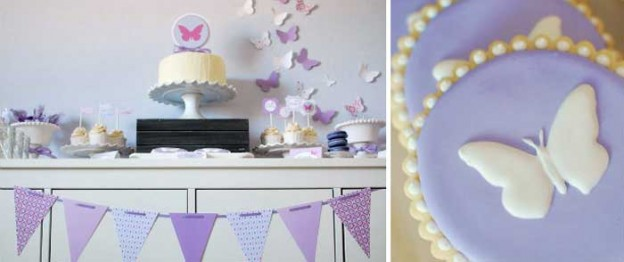 Butterfly themed birthday party with Lots of Cute Ideas via Kara's Party Ideas | Cake, decor, cupcakes, games and more! KarasPartyIdeas.com #butterflyparty #partyideas #partydecor #partyplanning #partystyling #eventstyling (2)