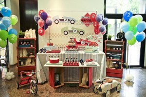 Vintage Race Car themed birthday party with Such Cute Ideas via Kara's Party Ideas Kara's Party Ideas | Cake, decor, cupcakes, games and more! KarasPartyIdeas.com #racecarparty #racecar #carparty #partyideas (36)