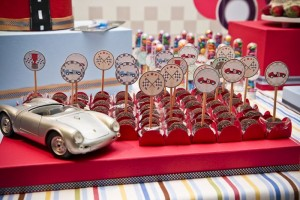 Vintage Race Car themed birthday party with Such Cute Ideas via Kara's Party Ideas Kara's Party Ideas | Cake, decor, cupcakes, games and more! KarasPartyIdeas.com #racecarparty #racecar #carparty #partyideas (28)