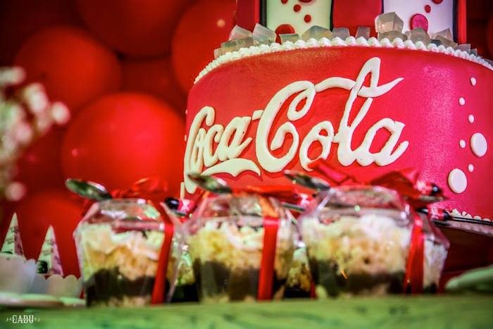 Coca Cola Themed Tween Birthday Kara S Ideas Coca Cola Themed
