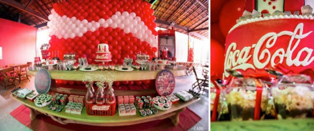 Coca - Cola themed Tween birthday party with Such Cute Ideas via kara's party ideas! full of decorating ideas, dessert, cake, cupcakes, favors and more! KarasPartyIdeas.com #cocacola #cokeparty #tweenparty #partystyling #partyplanning #eventstyling #cocacolaparty #partyideas (1)