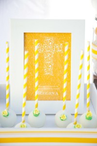 Yellow and White First Communion Party with Lots of Really Pretty Ideas via Kara's Party Ideas KarasPartyIdeas.com #firstcommunion #communionpartyideas #firstcommunionparty #partydecor #partyplanning #genderneutral (31)