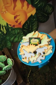 Dinosaur themed birthday party with lots of awesome ideas via kara's party ideas! full of decorating ideas, dessert, cake, cupcakes, favors and more! KarasPartyIdeas.com #dinosaurparty #dinoparty #dinosaurcake #partystying #partydecor #partyideas (15)