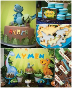 Dinosaur themed birthday party with lots of awesome ideas via kara's party ideas! full of decorating ideas, dessert, cake, cupcakes, favors and more! KarasPartyIdeas.com #dinosaurparty #dinoparty #dinosaurcake #partystying #partydecor #partyideas (2)