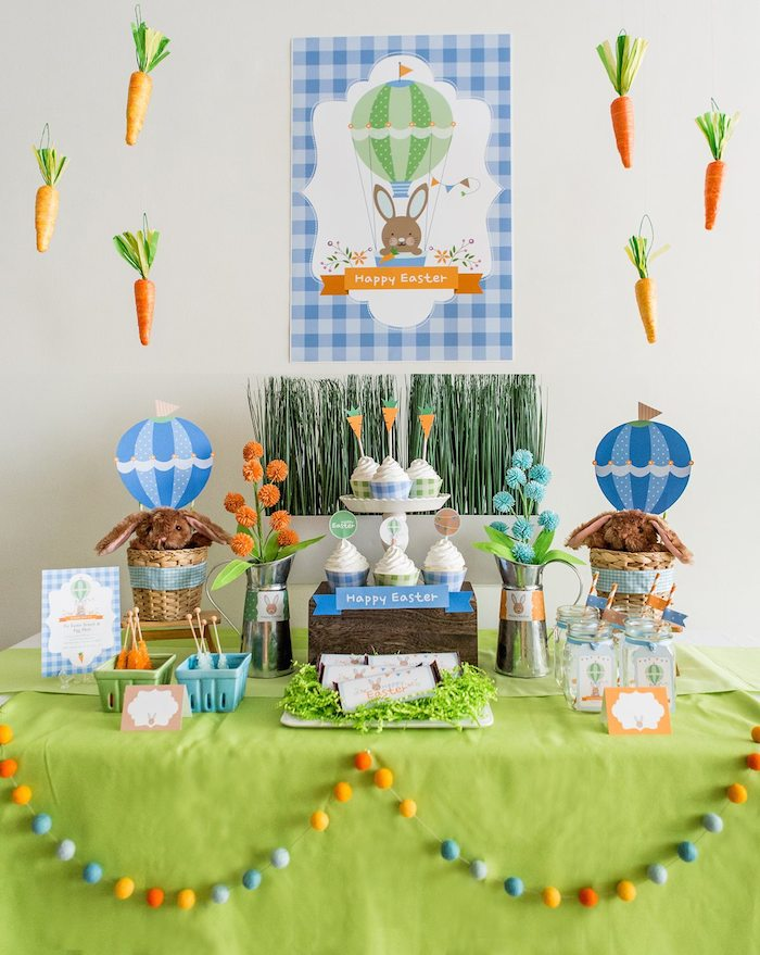 Hot Air Balloon Themed Easter Party With Such Cute Ideas Via Karas