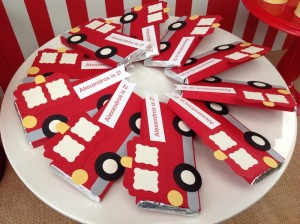 Vintage Fire Truck themed birthday party with such cute ideas via Kara' s Party Ideas KarasPartyIdeas.com #firetruckparty #firetruck #fireman #firemanparty #partyideas (5)