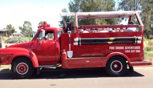 Vintage Fire Truck themed birthday party with such cute ideas via Kara' s Party Ideas KarasPartyIdeas.com #firetruckparty #firetruck #fireman #firemanparty #partyideas (3)