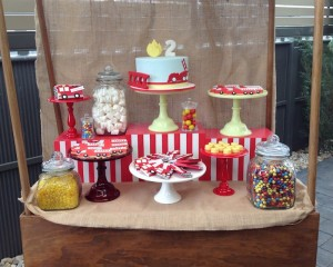 Vintage Fire Truck themed birthday party with such cute ideas via Kara' s Party Ideas KarasPartyIdeas.com #firetruckparty #firetruck #fireman #firemanparty #partyideas (8)