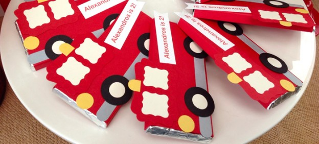 Vintage Fire Truck themed birthday party with such cute ideas via Kara' s Party Ideas KarasPartyIdeas.com #firetruckparty #firetruck #fireman #firemanparty #partyideas (1)