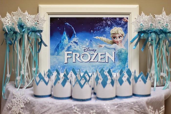 Kara's Party Ideas Frozen themed birthday party via Kara's ...