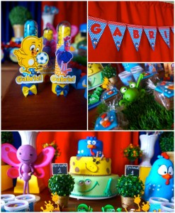 Galinha Pintadinha themed birthday party with Lots of Really Fun Ideas via kara's party ideas! full of decorating ideas, dessert, cake, cupcakes, favors and more! KarasPartyIdeas.com #galinhapintadinhaparty #galinhapintadinha #partyideas #partydecor #partystyling (2)