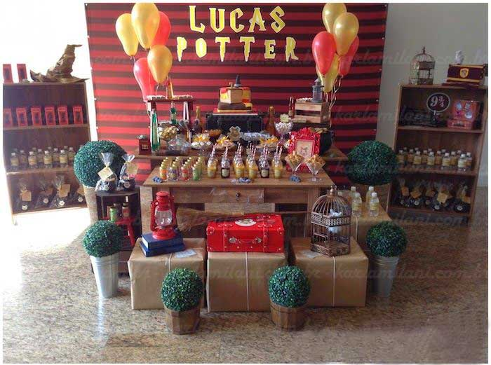 Karas Party Ideas Harry Potter themed birthday party via Karas