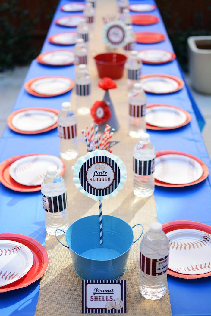 Karas Party Ideas HomeONE Baseball themed birthday party via