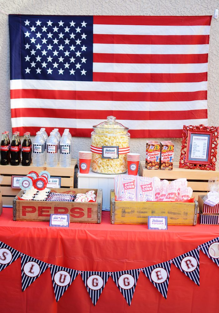 Kara S Party Ideas Home One Baseball Themed Birthday