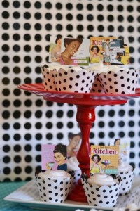 1950's Housewife themed Bridal Shower with SUCH CUTE IDEAS via Kara's Party Ideas KarasPartyIdeas.com #housewifebridalshower #1950sparty #bridalshowerideas #partyideas #karaspartyideas (30)