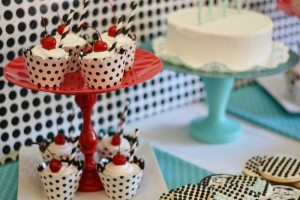 1950's Housewife themed Bridal Shower with SUCH CUTE IDEAS via Kara's Party Ideas KarasPartyIdeas.com #housewifebridalshower #1950sparty #bridalshowerideas #partyideas #karaspartyideas (13)