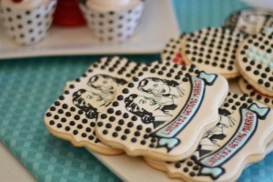1950's Housewife themed Bridal Shower with SUCH CUTE IDEAS via Kara's Party Ideas KarasPartyIdeas.com #housewifebridalshower #1950sparty #bridalshowerideas #partyideas #karaspartyideas (12)