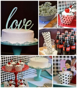 1950's Housewife themed Bridal Shower with SUCH CUTE IDEAS via Kara's Party Ideas KarasPartyIdeas.com #housewifebridalshower #1950sparty #bridalshowerideas #partyideas #karaspartyideas (2)
