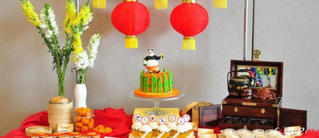 Chinese Inspired Kung Fu Panda themed birthday party Full of Really Cute Ideas via Kara's Party Ideas Kara's Party Ideas | Cake, decor, cupcakes, games and more! KarasPartyIdeas.com #kungfupanda #kungfupandaparty #chineseinspiredparty #firstborthday #partyideas (2)