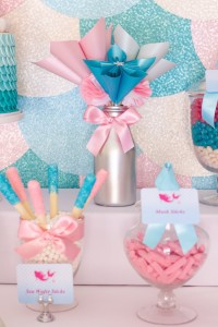 Mermaid in the Ocean themed birthday party with So Many CUTE IDEAS via Kara's Party Ideas Kara's Party Ideas | Cake, decor, cupcakes, games and more! KarasPartyIdeas.com #mermaid #mermaidparty #mermaidcake #underthedsea #oceanparty #mermaidpartyideas #partydecor (8)