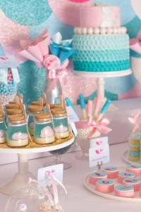 Mermaid in the Ocean themed birthday party with So Many CUTE IDEAS via Kara's Party Ideas Kara's Party Ideas | Cake, decor, cupcakes, games and more! KarasPartyIdeas.com #mermaid #mermaidparty #mermaidcake #underthedsea #oceanparty #mermaidpartyideas #partydecor (10)