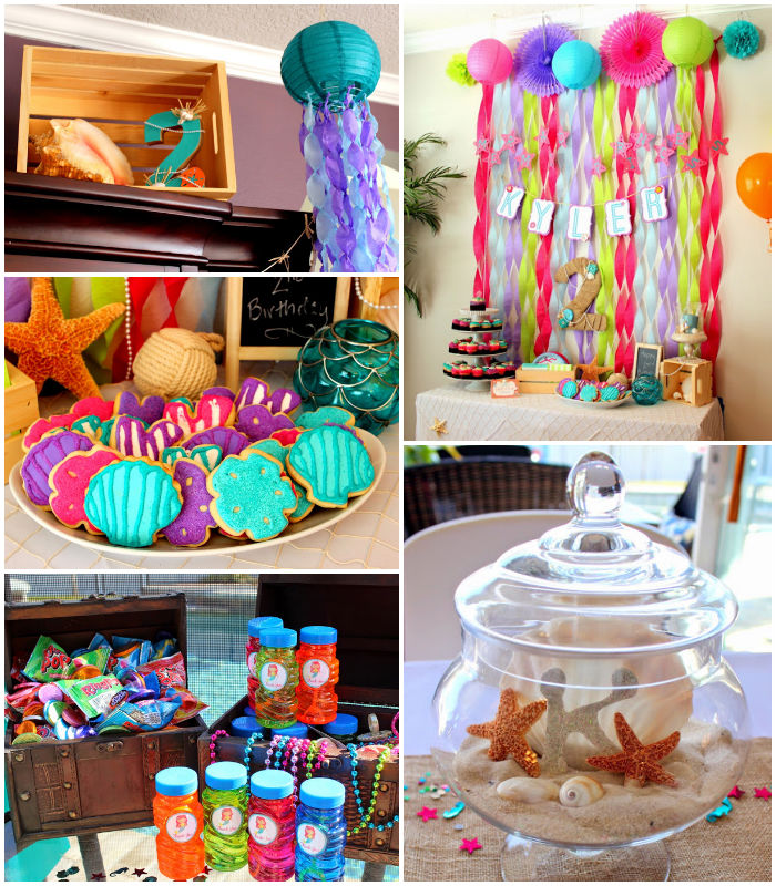 Kara 39 S Party Ideas Mermaid Themed Birthday Party Via Kara 39 S Party Ideas Decor Cakes