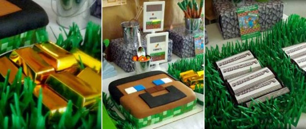 Minecraft themed birthday party with Lots of Really Fun Ideas via Kara's Party Ideas KarasPartyIdeas.com #minecraftparty #minecraft #tweenparty #partyideas (2)
