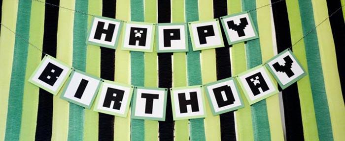 Kara S Party Ideas Minecraft Themed Birthday Party Decor