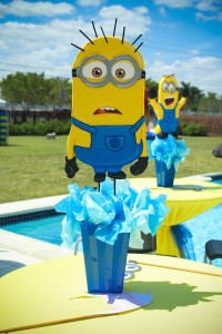 Despicable Me Minion themed birthday party via Kara's Party Ideas | Games, decor, cakes, party supplies, and MORE! KarasPartyIdeas,com #minionparty #minions #despicableme #despicablemeparty #partyplaning #partyideas #partystlying #partydecor (24)