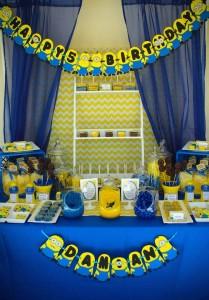 Despicable Me Minion themed birthday party via Kara's Party Ideas | Games, decor, cakes, party supplies, and MORE! KarasPartyIdeas,com #minionparty #minions #despicableme #despicablemeparty #partyplaning #partyideas #partystlying #partydecor (11)
