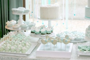 Mint and White Bird Themed Baptism Party with SUCH DARLING IDEAS via Kara's Party Ideas! full of decorating ideas, dessert, cake, cupcakes, favors and more! KarasPartyIdeas.com #baptism #baptismparty #birdparty #baptsimsdesserttable #birdbaptism #whitecake #partyideas #partyplanning (3)