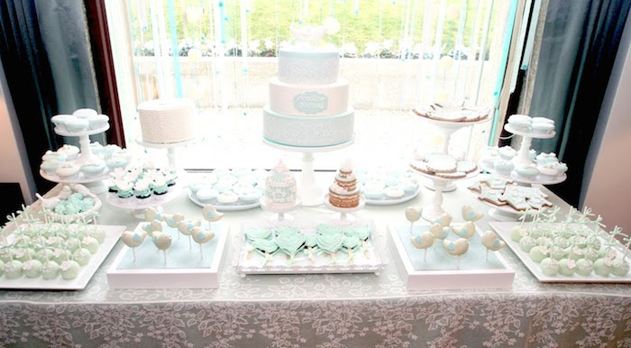 Kara39s Party Ideas Mint And White Bird Themed Baptism & Christening Decoration Ideas For A Party - Elitflat
