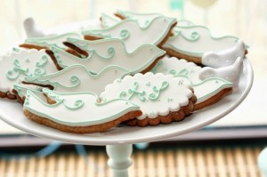 Mint and White Bird Themed Baptism Party with SUCH DARLING IDEAS via Kara's Party Ideas! full of decorating ideas, dessert, cake, cupcakes, favors and more! KarasPartyIdeas.com #baptism #baptismparty #birdparty #baptsimsdesserttable #birdbaptism #whitecake #partyideas #partyplanning (7)