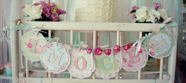 Shabby Chic Pink And Mint Baby Shower Full Of Really Cute Ideas Via Karau0027s  Party Ideas
