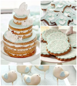 Mint and White Bird Themed Baptism Party with SUCH DARLING IDEAS via Kara's Party Ideas! full of decorating ideas, dessert, cake, cupcakes, favors and more! KarasPartyIdeas.com #baptism #baptismparty #birdparty #baptsimsdesserttable #birdbaptism #whitecake #partyideas #partyplanning (1)