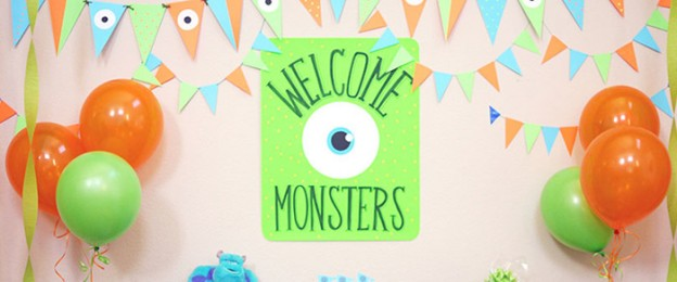 Monsters Inc themed birthday party with Lots of Fun Ideas via Kara's Party Ideas KarasPartyIdeas.com #monstersinc #monstersincparty #monsterbash #monsterparty #partyideas #partydecor (13)