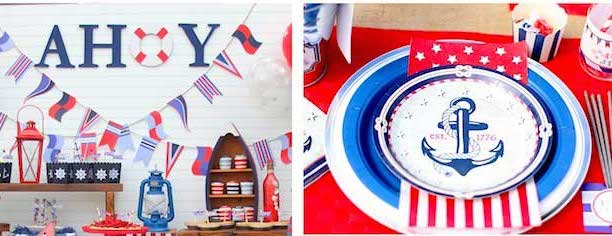 nautical themed birthday party / 4th of july party