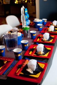 Ninjago themed birthday party with Lots of Really Fun Ideas via Kara's Party Ideas Kara's Party Ideas | Cake, decor, cupcakes, games and more! KarasPartyIdeas.com #ninjaparty #ninjagoparty #legoparty #legopartyideas #ninjago #boyparty #partyideas (43)